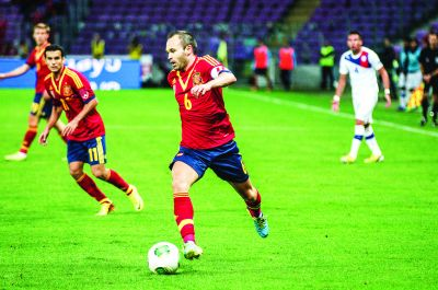 Spain - Chile - 10-09-2013 - Geneva - Andres Iniesta