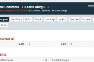 FC Viitorul - Astra Giurgiu | Ponturi Cupa României