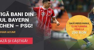 Pariu FĂRĂ RISC pe PSG - Bayern Munchen