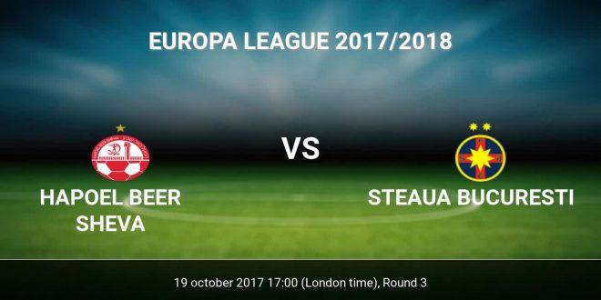 H. Beer Sheva - FC Steaua București