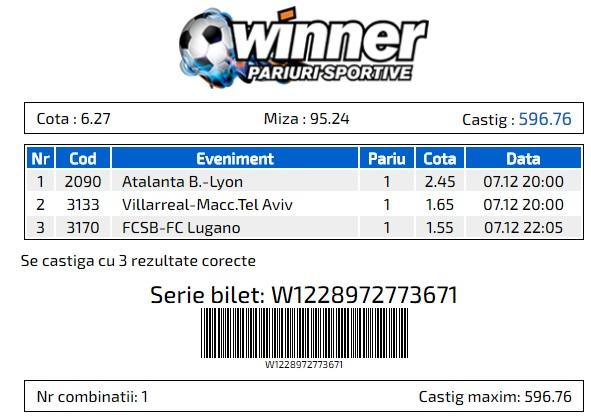 Bilet Winner