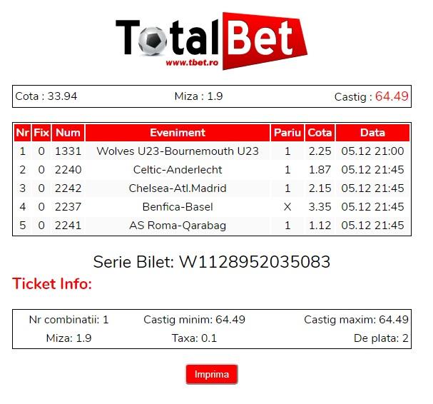 Bilete castigatoare public betting pari mutuel betting spreadsheet tracker