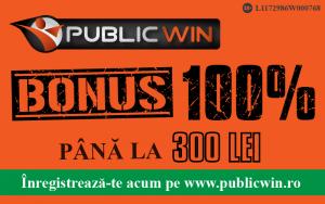 Public Win - Bonusul de 100 %