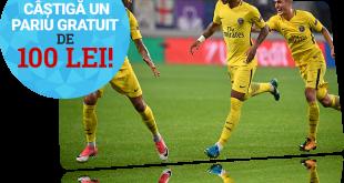 100 RON pariu gratuit pe Lyon - PSG