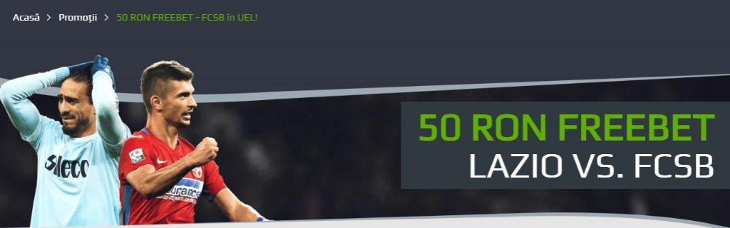 50 RON FREEBET pentru Lazio - FCSB
