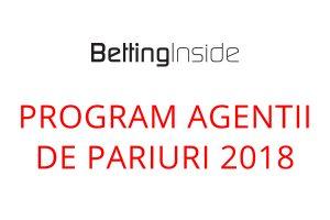 Programul agentiilor de pariuri in 2018