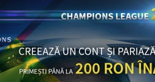 Pariu fără risc de 200 RON la Champions League 2018