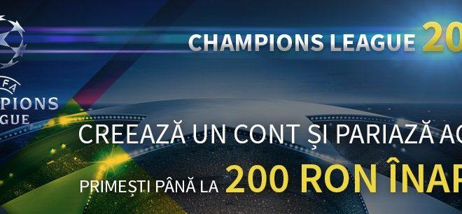 Pariu fără risc de 200 RON la Champions League 2018