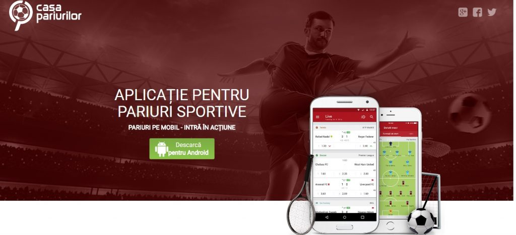aplicatie pentru pariuri sportive