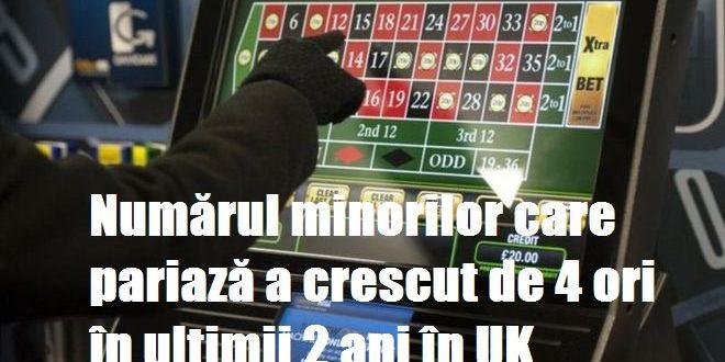 Numărul minorilor care pariază a crescut de 4 ori în ultimii 2 ani în UK