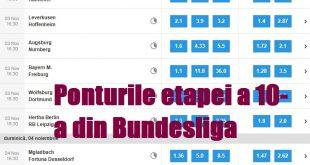 Ponturile etapei a 10-a din Bundesliga