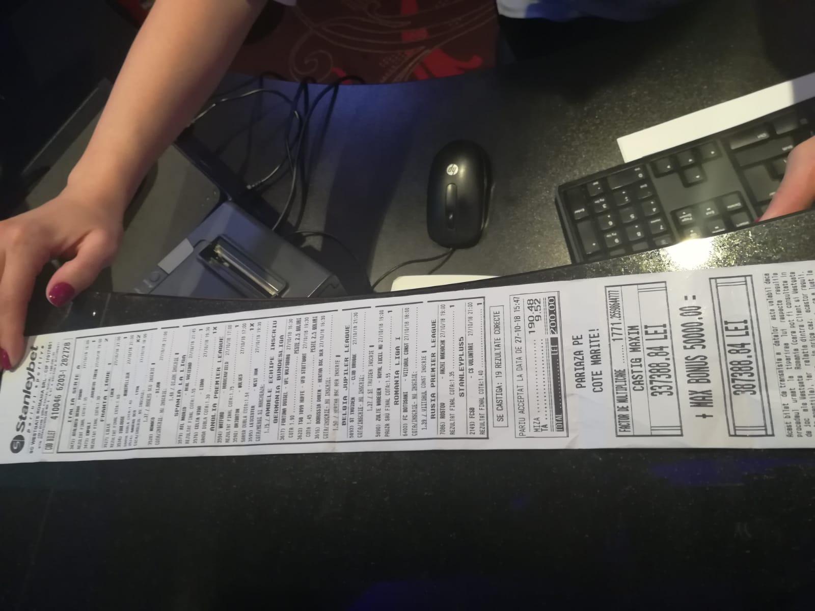 Cel mai mare câștig pe un singur bilet