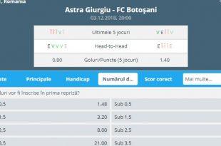 Astra Giurgiu - FC Botosani