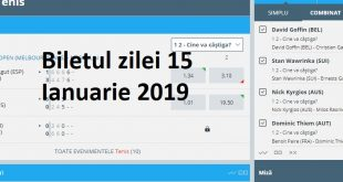 Biletul zilei 15 Ianuarie 2019
