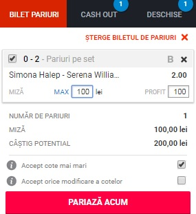 Simona Halep - Serena Williams