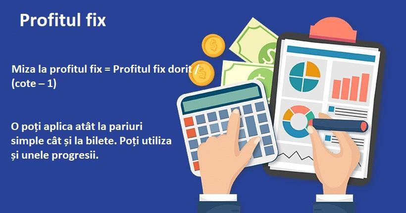 Profitul fix - Cele mai bune strategii de money-managament la pariuri simple (2019)