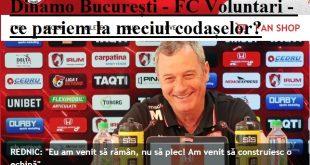 Dinamo București - FC Voluntari - ce pariem la meciul codașelor?