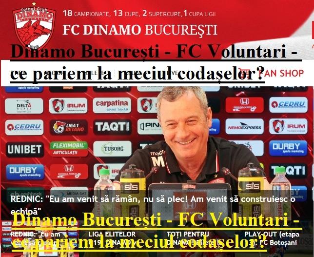 DINAMO - VOLUNTARI // liveTEXT de la 21:00 » Dan Nistor ... |Dinamo București-voluntari