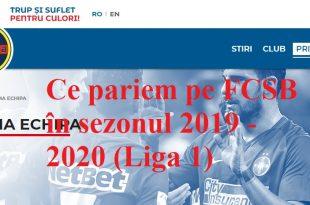 Ce pariem pe FCSB în sezonul 2019 - 2020 (Liga 1)
