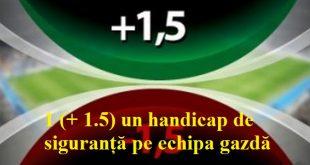 1 (+ 1.5) un handicap de siguranță pe echipa gazdă