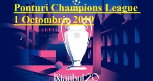 Ponturi Champions League 1 Octombrie 2019