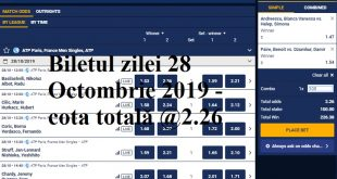 Biletul zilei 28 Octombrie 2019 - cota totală @2.26