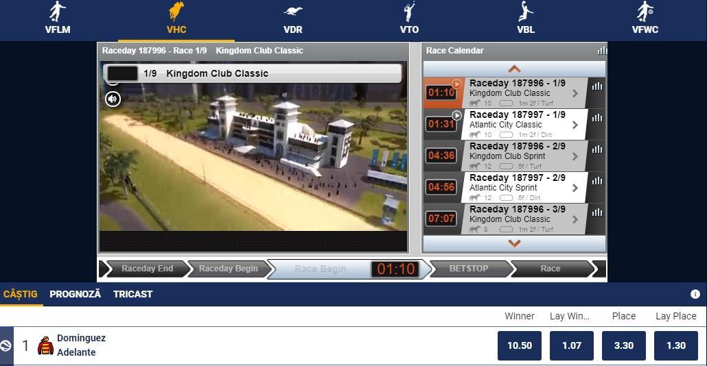 VHC - pariuri virtuale pe cai