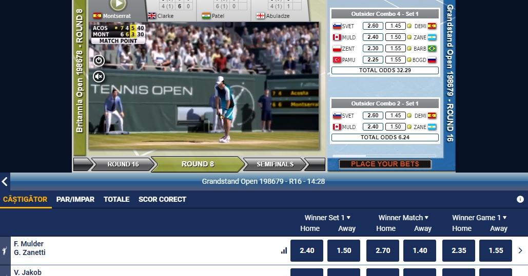 VTO - pariuri virtuale pe tenis