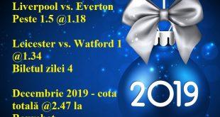 Biletul zilei 4 Decembrie 2019 la Baumbet