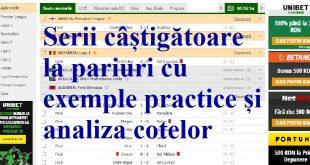 Serii câștigătoare la pariuri cu exemple practice și analiza cotelor