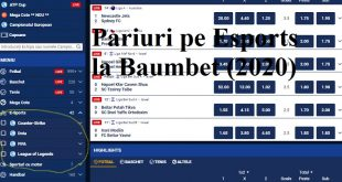 Pariuri pe Esports la Baumbet (2020)
