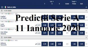 Predicții Serie A 11 Ianuarie 2020