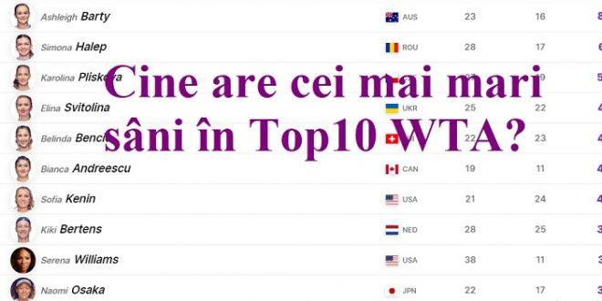 Cine are cei mai mari sâni în Top10 WTA