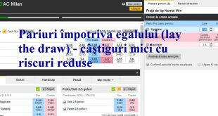 Pariuri împotriva egalului (lay the draw) - câștiguri mici cu riscuri reduse