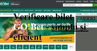 Verificare bilet GOBet - simplu și eficient