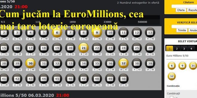 Cum jucăm la EuroMillions, cea mai tare loterie europeană