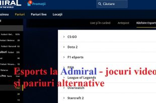 Esports la Admiral - jocuri video și pariuri alternative