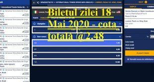 Biletul zilei 18 Mai 2020 - cota totală @2.48