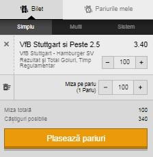 1&3+ la Stuttgart - Hamburger