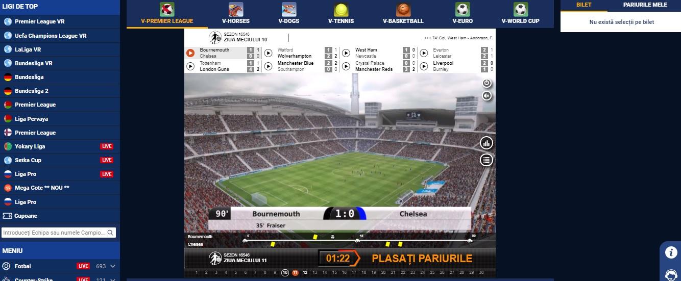 Premier League VR la Baumbet