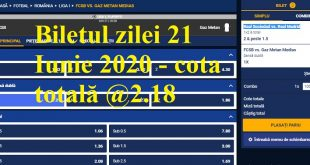 Biletul zilei 21 Iunie 2020 - cota totală @2.18