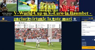 V-World Cup și V-Euro la Baumbet - pariuri virtuale la cote mari