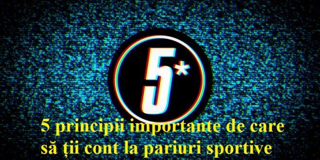 5 principii importante de care să ții cont la pariuri sportive
