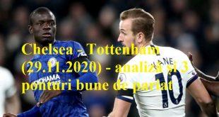 Chelsea - Tottenham (29.11.2020) - analiză și 3 ponturi