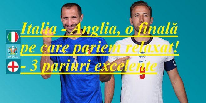Italia - Anglia, o finală pe care pariem relaxat! - 3 pariuri excelente
