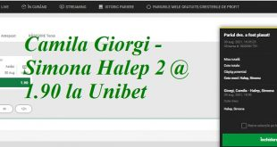 Camila Giorgi - Simona Halep